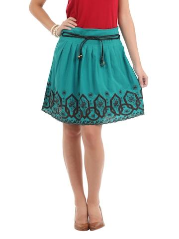 Elle Women Teal Skirt