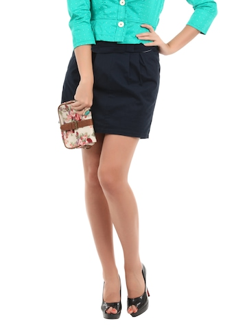 Elle Women Blue Skirt