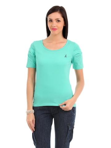 Elle Women Sea Green T-shirt