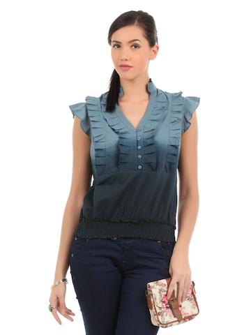 Elle Women Blue Top