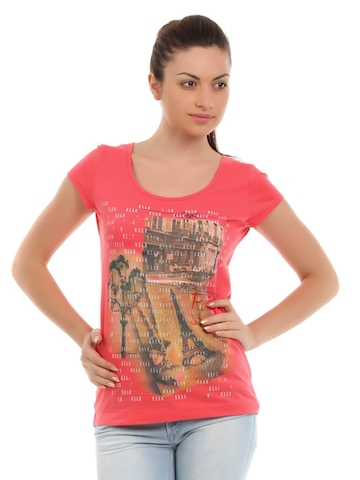Elle Women Coral Essentials T-shirt