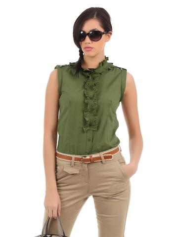 Elle Women Green Essentials Top