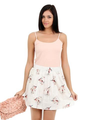 Elle Women Off White Skirt