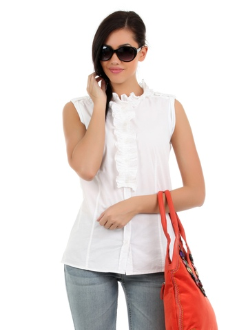 Elle Women White Top