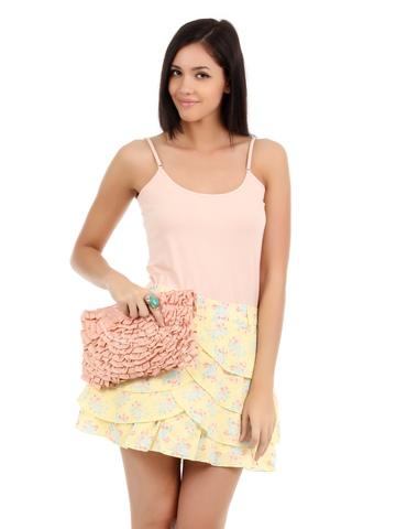 Elle Women Yellow Skirt
