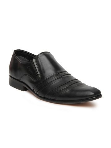 engross black fila leather semi formal shoes available