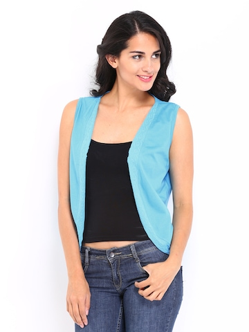 Espresso Blue Shrug at myntra
