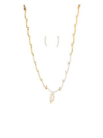 Estelle Gold Plated Necklace and Earring Set
