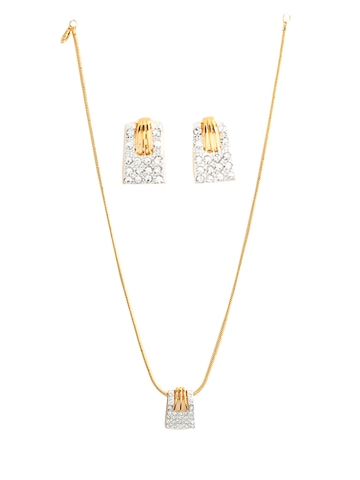 Estelle Women Gold Earring & Pendant Set
