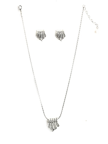 Estelle Women Silver Earring & Pendant Set