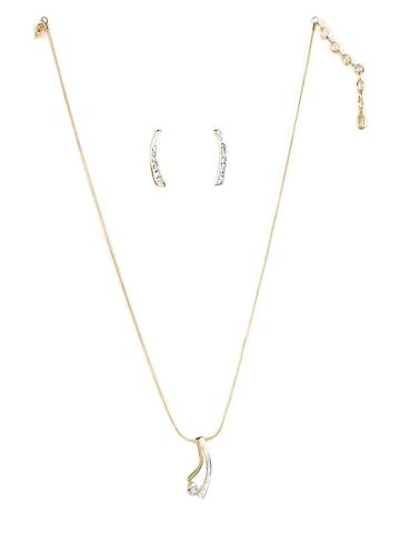 Estelle Women Gold Earring & Pendant Set