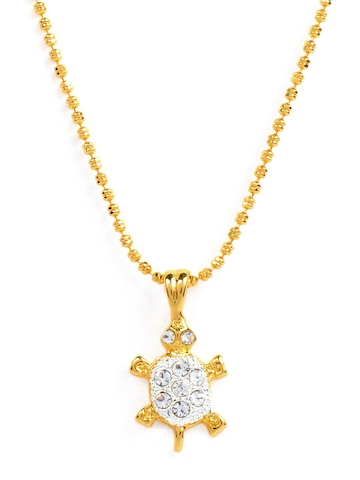 Estelle Women Gold Pendant with Chain