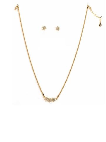 Estelle Gold Plated Earring & Pendant Set