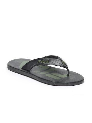 Fila Men Black Flip Flops