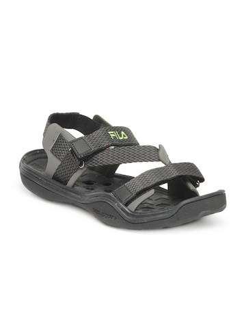 Fila Men Black & Grey Sandals