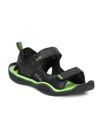 Fila Men Black & Green Sandals