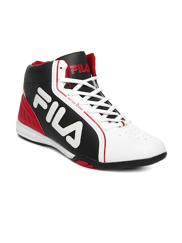 FILA Men White & Black ISONZO Motor Sport Shoes