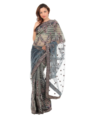 FNF Grey Wedding Collection One Minute Sari