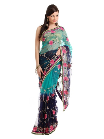 FNF Navy Blue Designer Collection One Minute Sari