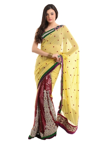 FNF Women Red One Minute Sari