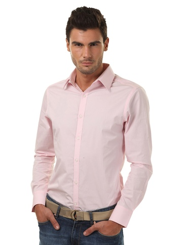FREECULTR Men Slim Fit Pink Shirt