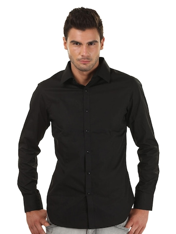 FREECULTR Men Slim Fit Black Shirt