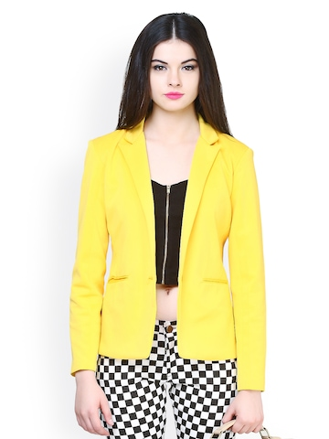 Buy FabAlley Women Yellow Blazer - Blazers for Women | Myntra