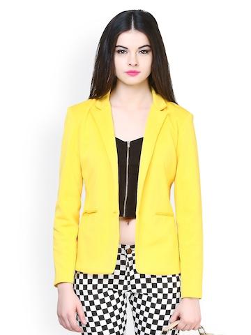 Buy FabAlley Women Yellow Blazer - Blazers for Women | Myntra