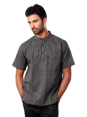 Fabindia Men Black Kurta