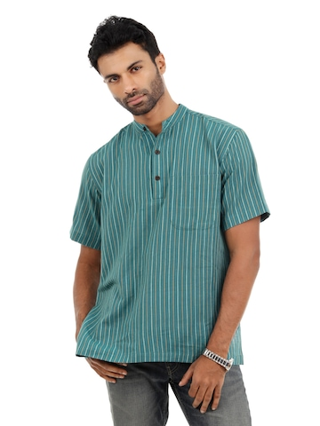 Fabindia Men Blue Kurta