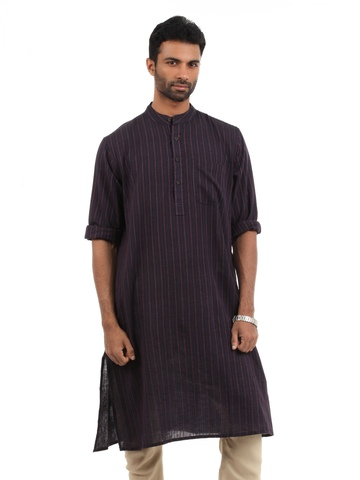 Fabindia Men Navy Blue Kurta