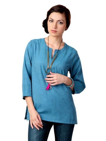 Fabindia Women Blue Kurti