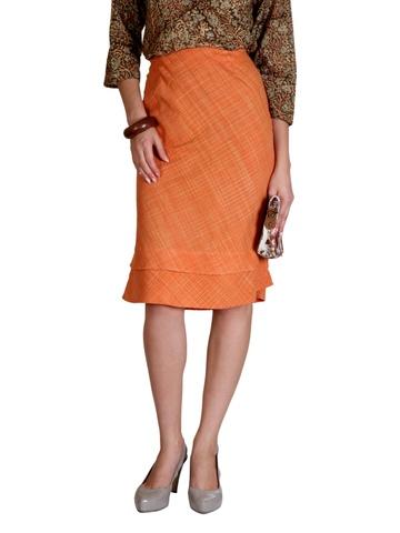 Fabindia Women Orange Skirt