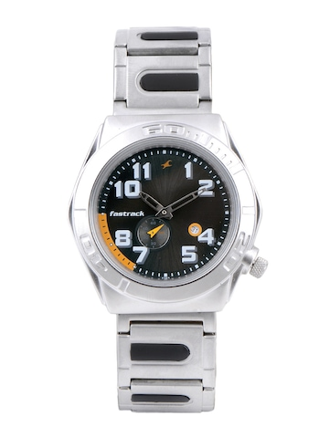 Fastrack Men Charcoal Black Dial Watch