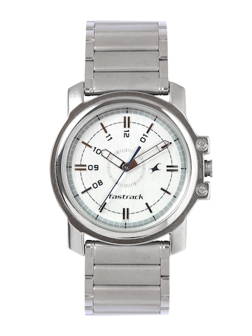 Fastrack Men White Dial Watch NB3039SM01