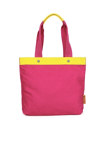 Fastrack Women Pink Tees Tote Bag