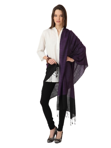 Femella Women  Purple Stole