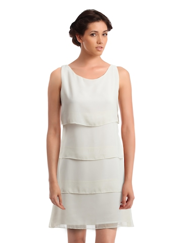 Femella Women Off White Dress