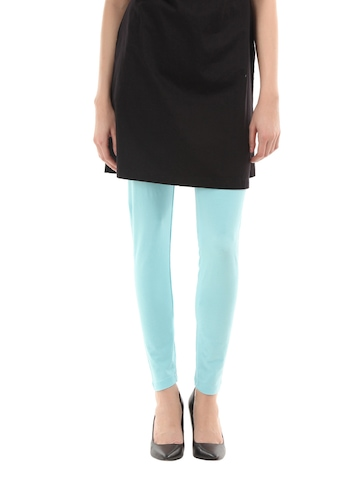 Femella Women Light Blue Leggings