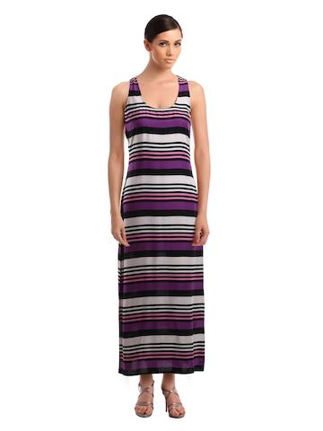 Femella Women Black & Purple Dress