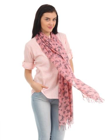 Femella Women Pink Scarf