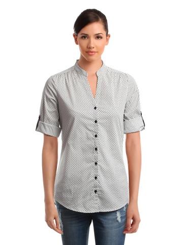 Femella Women White Printed Shirt