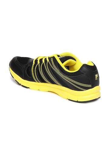 Yellow and Black Fila Sneakers Men