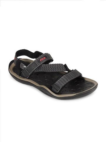 Fila Men Grey & Black Aqua Grippare Sports Sandals