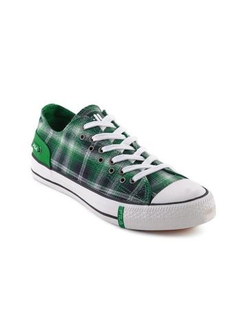 Fila Women Sleeker Green Check Casual Shoes