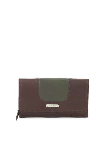Fiorelli Women Chocolate Brown and Olive Green Wallet
