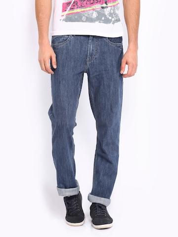 Flying Machine Men Blue Eddie Slim Straight Fit Jeans at myntra