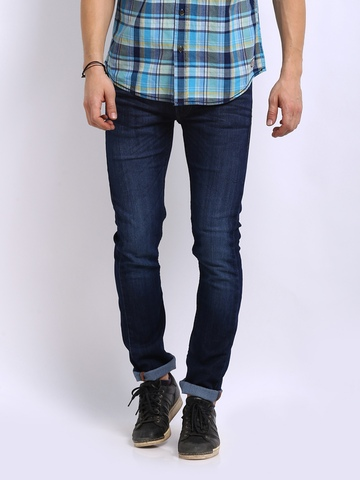 Flying Machine Men Blue Jackson Skinny Fit Jeans at myntra