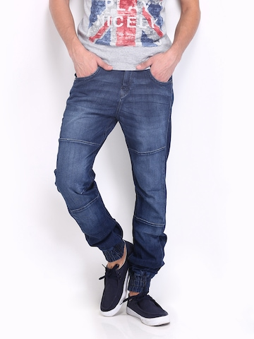 Flying Machine Men Blue Joggers Slim Fit Jeans at myntra