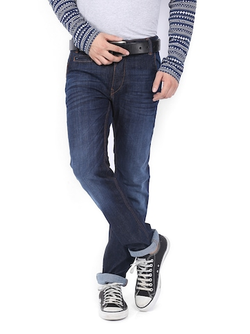 Flying Machine Men Blue Michael Slim Fit Jeans at myntra